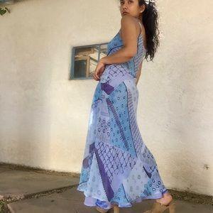 Dresses & Skirts - Vintage Reversible Chiffon Slip Dress